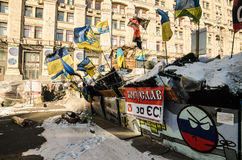 Maidan protests on 31 January 2014 in Kiev, Ukraine Royalty Free Stock Photos