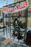 Maidan protests on 31 January 2014 in Kiev, Ukraine Stock Image