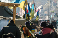 Maidan protests on 31 January 2014 in Kiev, Ukraine Royalty Free Stock Images