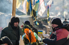 Maidan protests on 31 January 2014 in Kiev, Ukraine Stock Photo
