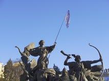 Maidan Ukraina Kiev - första dag Arkivbilder