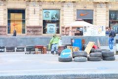Maidan, Ukraine Stockbild