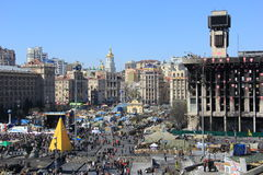 Maidan in ukraine Stock Photography