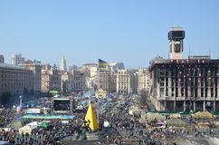 Maidan in the Ukrainian capital Stock Photo
