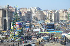 Maidan in the Ukrainian capital Stock Photography