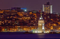 Maiden or Leander's Tower at Istanbul Stock Image