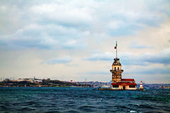 Maiden's island in Istanbul, Turkey Royalty Free Stock Photos