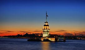 The Maiden's Tower. In Istanbul-2010 European Capital of Culture Stock Photo