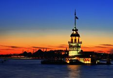 The Maiden's Tower. In Istanbul-2010 European Capital of Culture Stock Photography