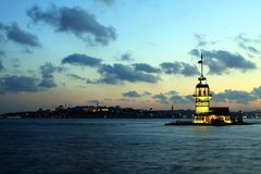 The Maiden's Tower Royalty Free Stock Photos