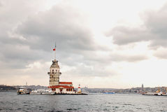 Maiden's Tower. The Maiden's Tower in İstanbul-Turkey Royalty Free Stock Photo