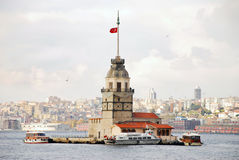 Maiden's Tower. The Maiden's Tower in İstanbul-Turkey Stock Photos