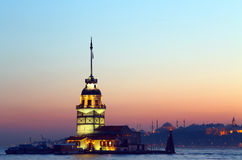 Maiden's Tower. The Maiden's Tower in Istanbul, Turkey Royalty Free Stock Photos