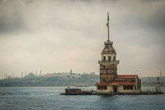 The Maiden`s Tower, Bosphorus, Istanbul, Turkey royalty free stock photo