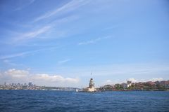 The Maiden`s Tower. Ancient architectural monument the Maiden`s Tower In Istanbul, Turkey royalty free stock photography