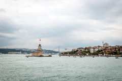 Maiden's Tower on Bosphorus ın Istanbul, Turkey Stock Image