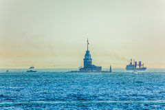 Maiden's Tower Bosphorus Royalty Free Stock Images