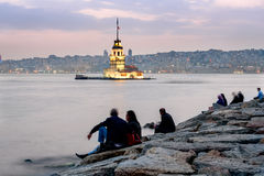 Maiden's Tower famous landmark of Istanbul: Stock Photos