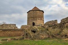 Maiden`s tower inside  Akkerman fortress in Belgorod, Odessa, Uk Stock Photos
