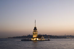 Maiden's Tower in Istanbul Royalty Free Stock Photo