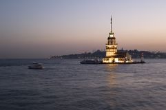 Maiden's Tower in Istanbul Stock Images