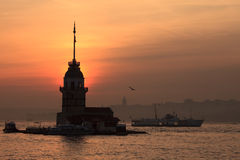 The Maiden's Tower in Istanbul Royalty Free Stock Photography
