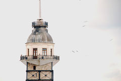 Maiden`s Tower in Istanbul. Leander's Tower, well known Bosporus landmark. Istanbul - Turkey Royalty Free Stock Image