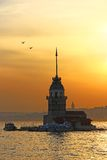 Maiden's Tower, Istanbul. Maiden's Tower at sunset, Istanbul, Turkey Stock Photo