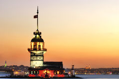 The Maiden's Tower in Istanbul. A Beautiful Landmark of Istanbul The Maiden's Tower Royalty Free Stock Photo