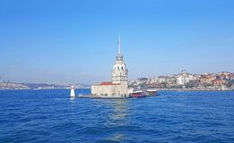 Maiden`s Tower Istanbul, Bosphorus. Maiden`s Tower Istanbul in the Bosphorus royalty free stock image