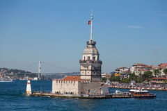 Maiden's Tower. In Istanbul City Stock Photos