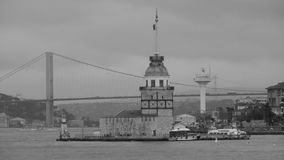 The Maiden`s Tower in Istanbul Royalty Free Stock Photos