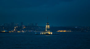 Maiden`s Tower in Istanbul royalty free stock images