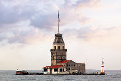 Maiden's Tower in Istanbul. Sights of Istanbul - Maiden's Tower on the Bosphorus Royalty Free Stock Photography