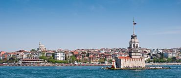 The Maiden`s Tower in istanbul, Turkey Royalty Free Stock Photography