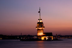Maiden's Tower of Istanbul, Turkey royalty free stock image