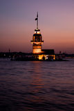 Maiden's Tower of Istanbul, Turkey Royalty Free Stock Images