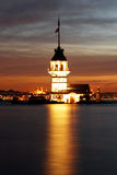 Maiden's Tower. The Maiden's Tower in İstanbul-Turkey Stock Images