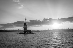 Maiden's tower in Istanbul, Turkey Stock Photography