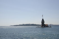 Maiden's Tower in istanbul. Maiden's tower in Turkey, historical peninsula Royalty Free Stock Photography