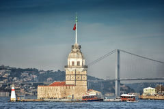 Maiden's Tower, Istanbul, Turkey Royalty Free Stock Image