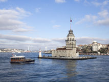The Maiden's Tower In Istanbul, Turkey Royalty Free Stock Photo