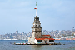 Maiden's Tower in Istanbul, Turkey Royalty Free Stock Image