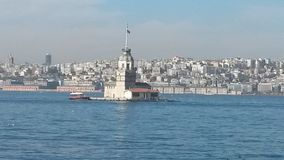 Maiden Tower. Popular and historic venue in İstanbul turkey Royalty Free Stock Image