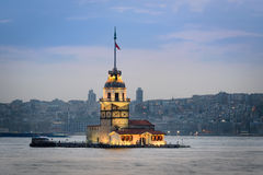 The Maiden's Tower  in Istanbul, Turkey. Royalty Free Stock Photography