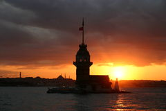 Maiden's Tower-Istanbul-Turkey Royalty Free Stock Photo