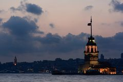 Maiden's Tower, Istanbul, Turkey. Stock Photography