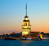 Maiden's Tower (Kiz Kulesi) Stock Photography