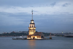 The Maiden's Tower (Kiz Kulesi) In Istanbul, Turkey Royalty Free Stock Photo