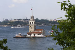 Maiden's Tower (Leander's Tower) in Istanbul Stock Photography